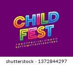 vector bright banner child fest ...   Shutterstock .eps vector #1372844297