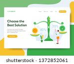 landing page template of choose ... | Shutterstock .eps vector #1372852061