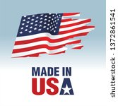 vector made in usa sign | Shutterstock .eps vector #1372861541