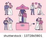 bride and groom character set....   Shutterstock .eps vector #1372865801