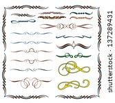 calligraphic design elements   Shutterstock .eps vector #137289431