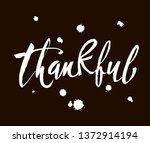 thankful thanksgiving day...   Shutterstock .eps vector #1372914194