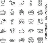 thin line vector icon set  ... | Shutterstock .eps vector #1372928027