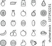 thin line vector icon set  ...   Shutterstock .eps vector #1372932251