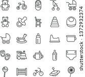 thin line vector icon set  ...   Shutterstock .eps vector #1372932374