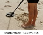 Metal Detector On The Sand.
