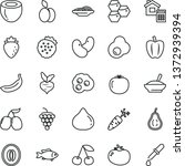 thin line vector icon set  ... | Shutterstock .eps vector #1372939394
