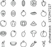thin line vector icon set  ... | Shutterstock .eps vector #1372947227