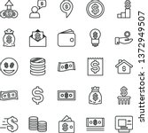 thin line vector icon set  ... | Shutterstock .eps vector #1372949507