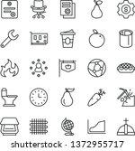thin line vector icon set  ... | Shutterstock .eps vector #1372955717