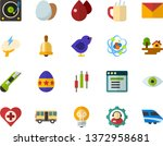color flat icon set   easter...   Shutterstock .eps vector #1372958681