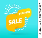 summer sale banner template... | Shutterstock .eps vector #1372969577