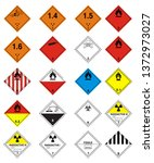 transport  hazard pictograms ... | Shutterstock .eps vector #1372973027