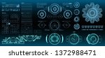 hud elements mega set pack.... | Shutterstock .eps vector #1372988471