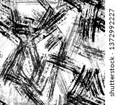 seamless pattern with scratched ... | Shutterstock .eps vector #1372992227