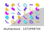 set of colorful abstract... | Shutterstock .eps vector #1372998734