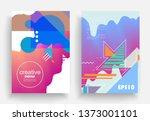 liquid color background design. ...   Shutterstock .eps vector #1373001101