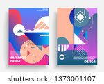 liquid color background design. ...   Shutterstock .eps vector #1373001107