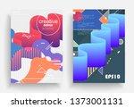 liquid color background design. ...   Shutterstock .eps vector #1373001131