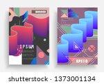 liquid color background design. ... | Shutterstock .eps vector #1373001134