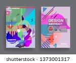 liquid color background design. ...   Shutterstock .eps vector #1373001317