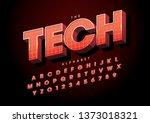vector of stylized modern font... | Shutterstock .eps vector #1373018321