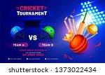 cricket tournament banner...   Shutterstock .eps vector #1373022434