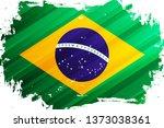 flag of brazil brush stroke... | Shutterstock .eps vector #1373038361