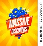 massive discounts  sale poster... | Shutterstock .eps vector #1373040974