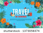 it s time to travel.trip to... | Shutterstock .eps vector #1373058374