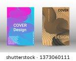 cover design. colorful liquid... | Shutterstock .eps vector #1373060111