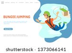 bungee jumping vector ...   Shutterstock .eps vector #1373066141