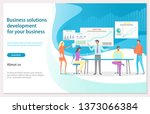 business solution development... | Shutterstock .eps vector #1373066384