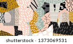 modern vector collage banner... | Shutterstock .eps vector #1373069531