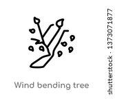 outline wind bending tree... | Shutterstock .eps vector #1373071877