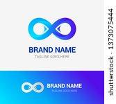infinity logo template element... | Shutterstock .eps vector #1373075444