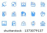 cleaning vector flat line icons ... | Shutterstock .eps vector #1373079137