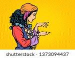 woman fortune teller gypsy. pop ...   Shutterstock . vector #1373094437