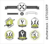 set of sports clubs badges | Shutterstock .eps vector #137310059