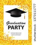 graduation party invitation... | Shutterstock .eps vector #1373111777