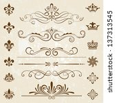 vintage decoration design... | Shutterstock .eps vector #137313545