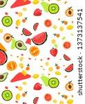 summer texture made of fresh... | Shutterstock . vector #1373137541