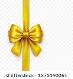bow isolated on transparent... | Shutterstock .eps vector #1373140061