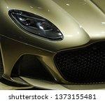 Golden Sports Car Headlight And ...