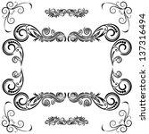 frame ornament vintage floral... | Shutterstock .eps vector #137316494