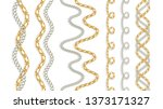 baroque golden chain  repeat... | Shutterstock .eps vector #1373171327