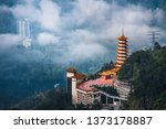 Chinese Temple On Top Of A Hill ...