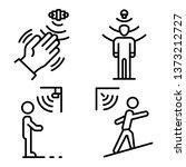 motion sensor icons set.... | Shutterstock .eps vector #1373212727