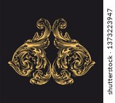 gold ornament baroque style.... | Shutterstock .eps vector #1373223947