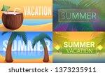 sunny tropical resort banner... | Shutterstock .eps vector #1373235911